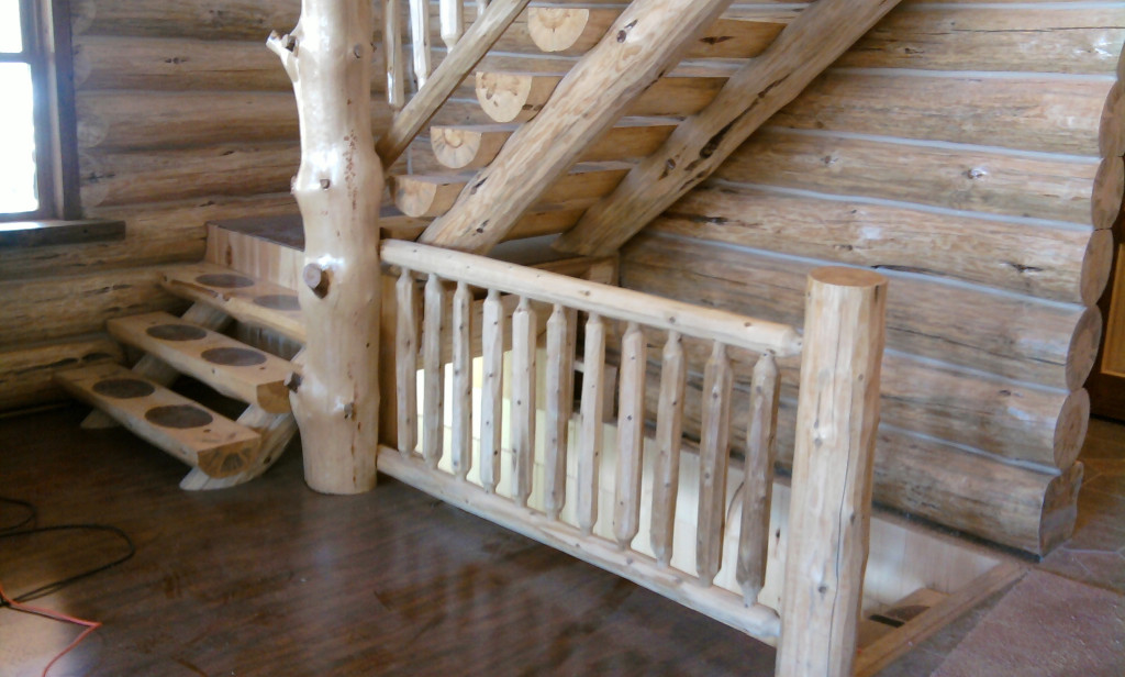 GV Wood Products - Log Railing