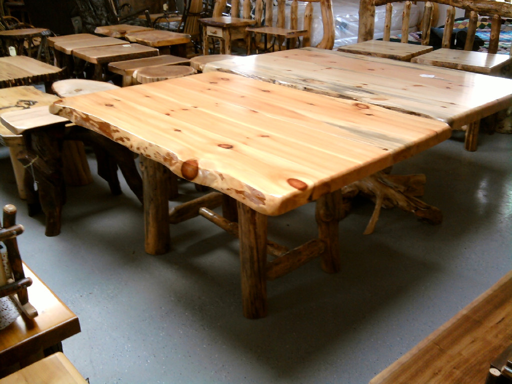 log kitchen tables country trestle table western rustic